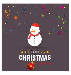 merry christmas card design with creative vector image