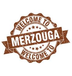 merzouga round ribbon seal vector image