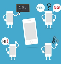 Mobile character vector