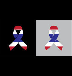 mock up thailand mourning symbol with thai flag vector image