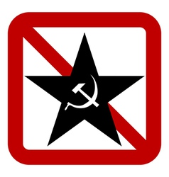 No communism sign vector image