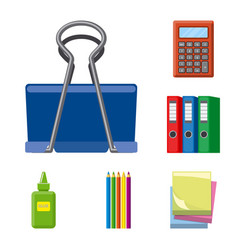 office and supply icon set vector image