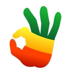 Okay human hand gesture sign vector
