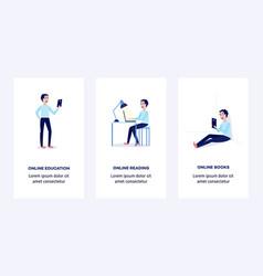 online education concept man student vector image