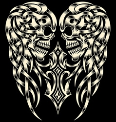 Ornate Skull With Cross vector image