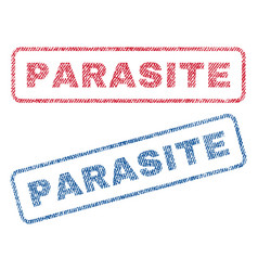 Parasite textile stamps vector