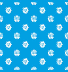 Pc data security pattern seamless blue vector