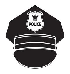Police cap3 vector