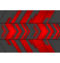 Red and black abstract tech arrows background vector