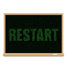 restart code blackboard vector image