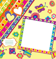 Scrapbook with doodle elements and place for your vector image