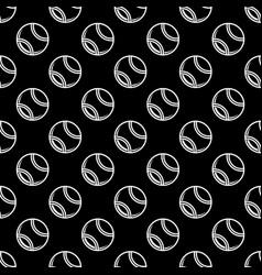 Seamless black tennis background vector