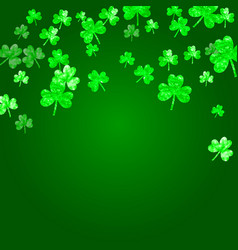 Shamrock background for saint patricks day vector