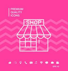 Shop symbol icon vector