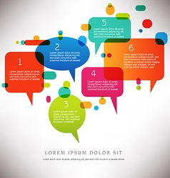 Speech Bubble Background vector image vector image