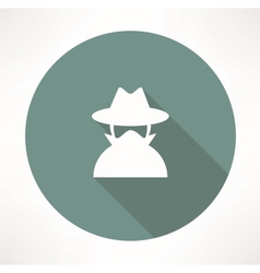 spy agent icon vector image