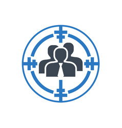 Target audience glyph icon vector