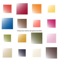 Trendy color scheme by gradient squares vector