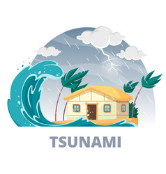 Tsunami disaster round composition vector
