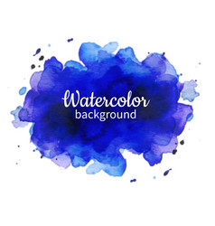 Violet watercolor abstract hand painted vector