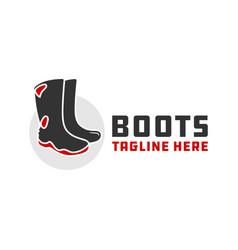Waterproof industrial boots logo vector