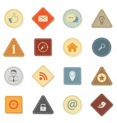 Web icons retro style vector image