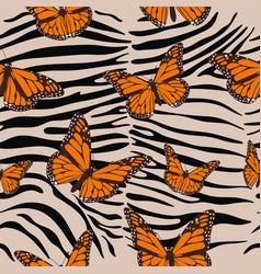 zebra seamless pattern animal print vector image