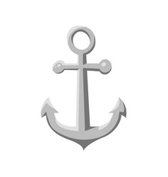 cartoon style ship anchor vector image