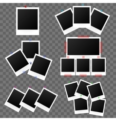 Classic Retro Frame Photo Set on Transparent vector image vector image