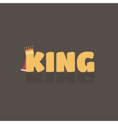 king text where K have a vector image vector image