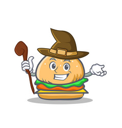 witch burger character fast food vector image vector image