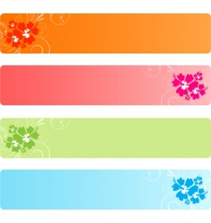 colorful banners with florals vector image vector image