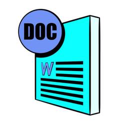 doc file icon cartoon vector image