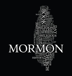 mormon church genealogy text background word vector image vector image
