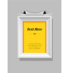 Picture frame with place for your own text vector image vector image