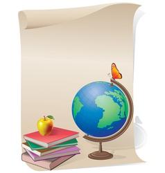 School skroll vector image vector image