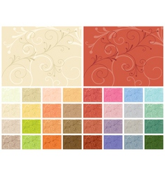 abstract backgrounds 32 color variations vector image vector image