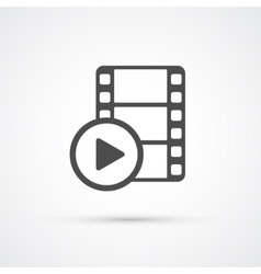 Film media play trendy icon vector image