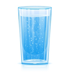 Glass of fizzy water vector image vector image