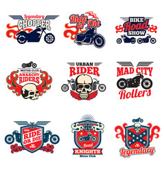 motorcycle speed racing retro painting vector image