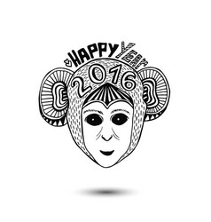 new year of monkey 2016 print design vector image vector image