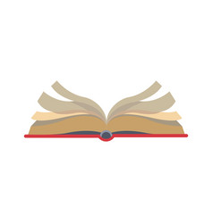 open book learn knowledge science icon vector image