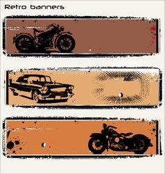 retro banners vector image