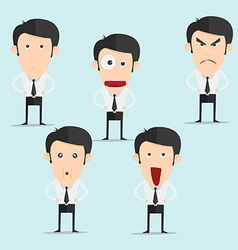 Businessman character set version3 vector image vector image