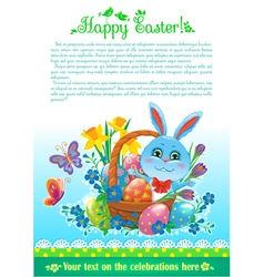 Easter design with text vector image vector image