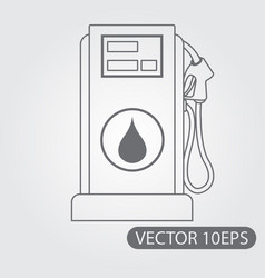 filling station icon black and white outline vector image