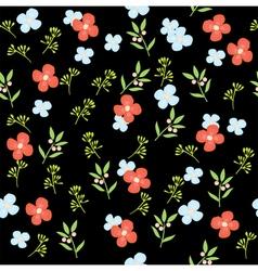 floral pattern dark vector image
