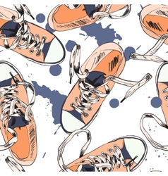 Gumshoes seamless pattern vector image vector image