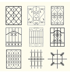 Iron window grills vector image vector image