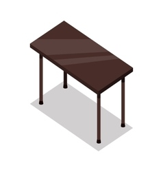 Isometric Wooden Table in Flat vector image vector image